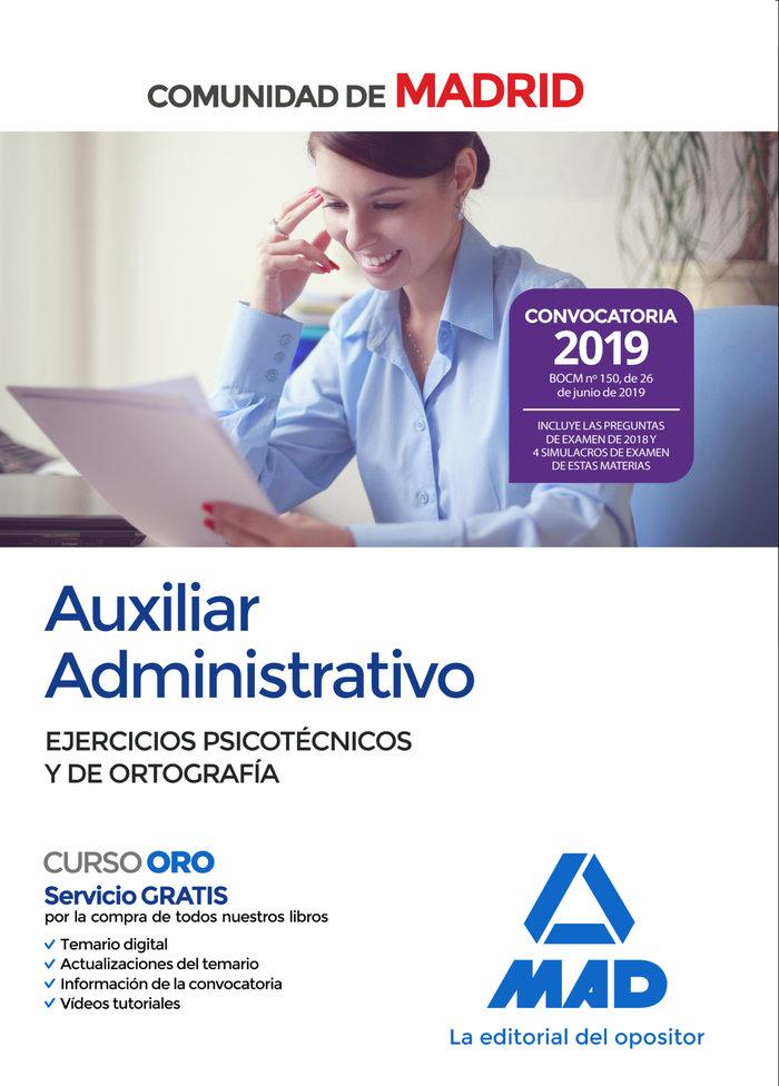 Auxiliar administrativo madrid psicotecnicos y ortografia