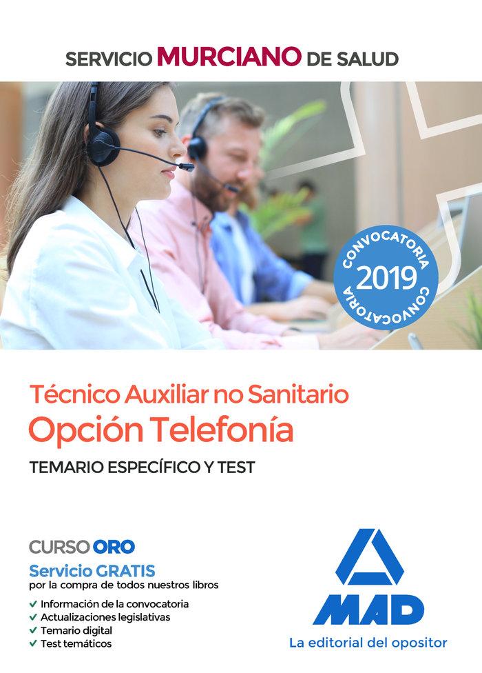 Tecnico auxiliar sanitario opcion telefonia servicio test