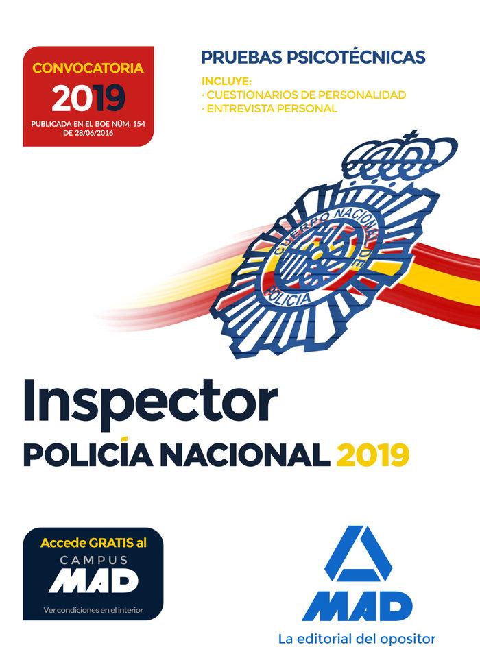 Inspector de policia nacional pruebas psicotecnicas