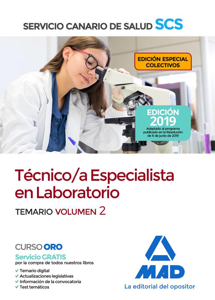 Tecnica/o especialista en laboratorio del servicio canario d
