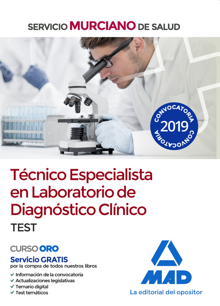 Tecnico especialista laboratorio diagnostico clinico test