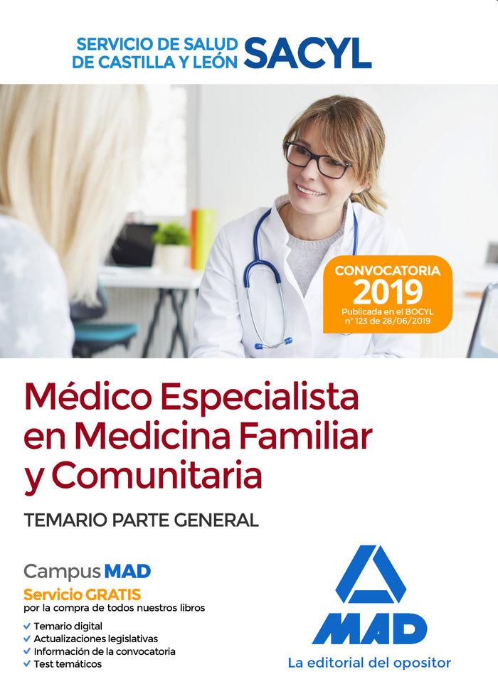Medico especialista medicina familiar y comunitaria sacyl