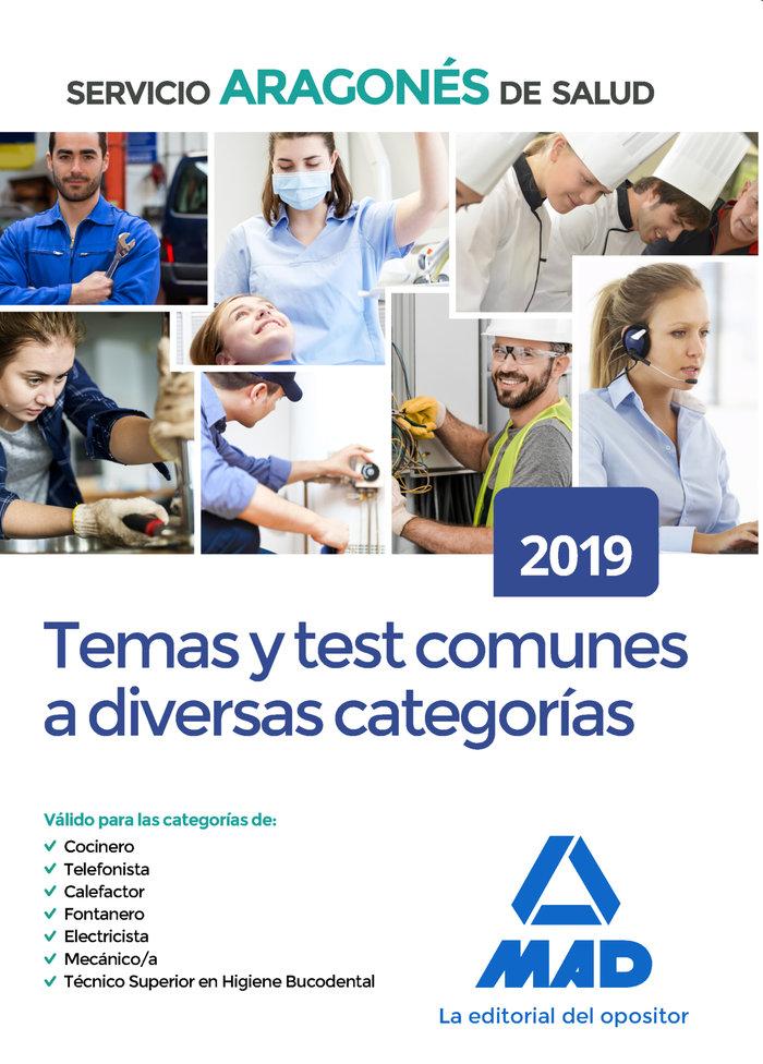 Temario comun test diversas categorias aragones salud