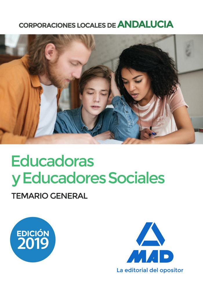 Educadora y educador social corporacion locale temario gene