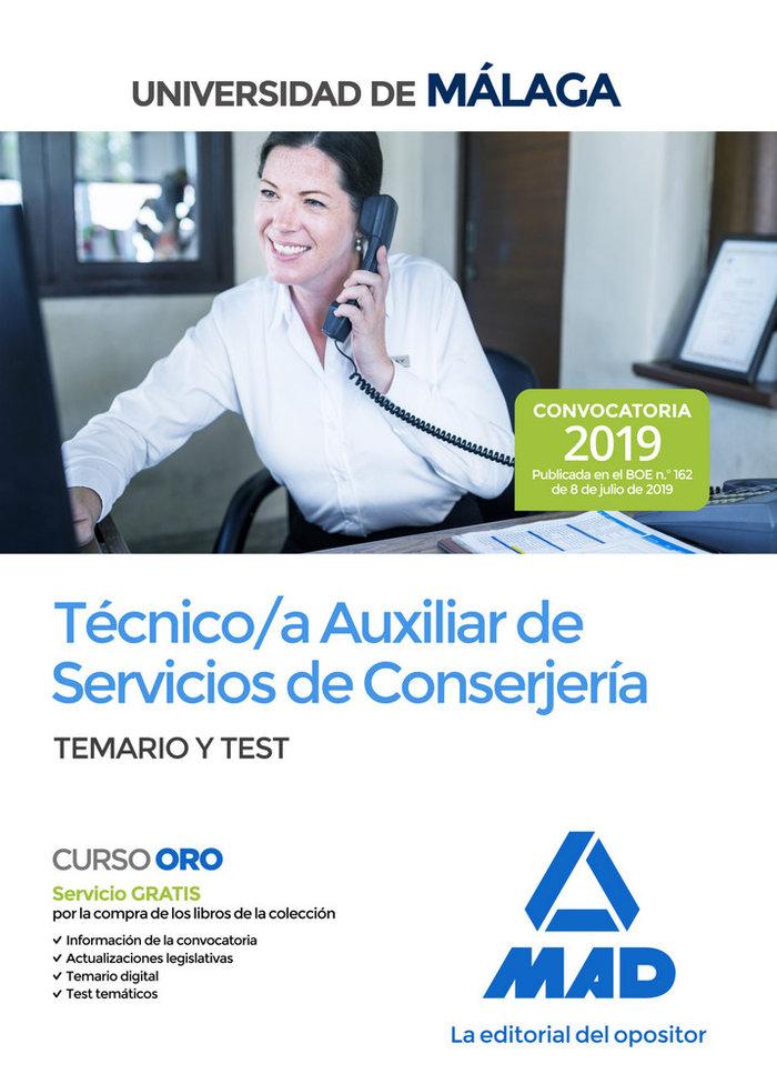 Tecnico/a aux servicio conserjeria univer malaga tem y test