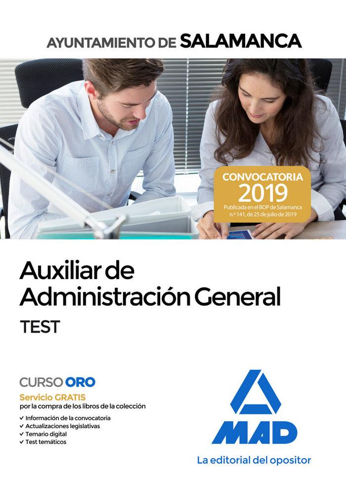 Auxiliar administracion general ayuntamiento salamanca test