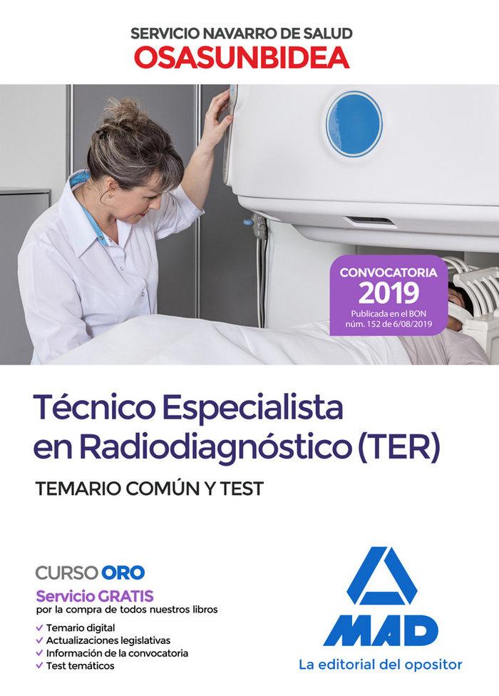 Tecnico especialista en radiodiagnostico (ter) del servicio