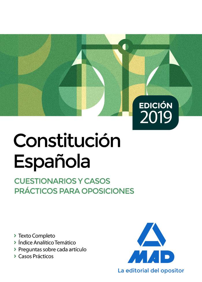 Constitucion española cuestionarios y casos para oposicione