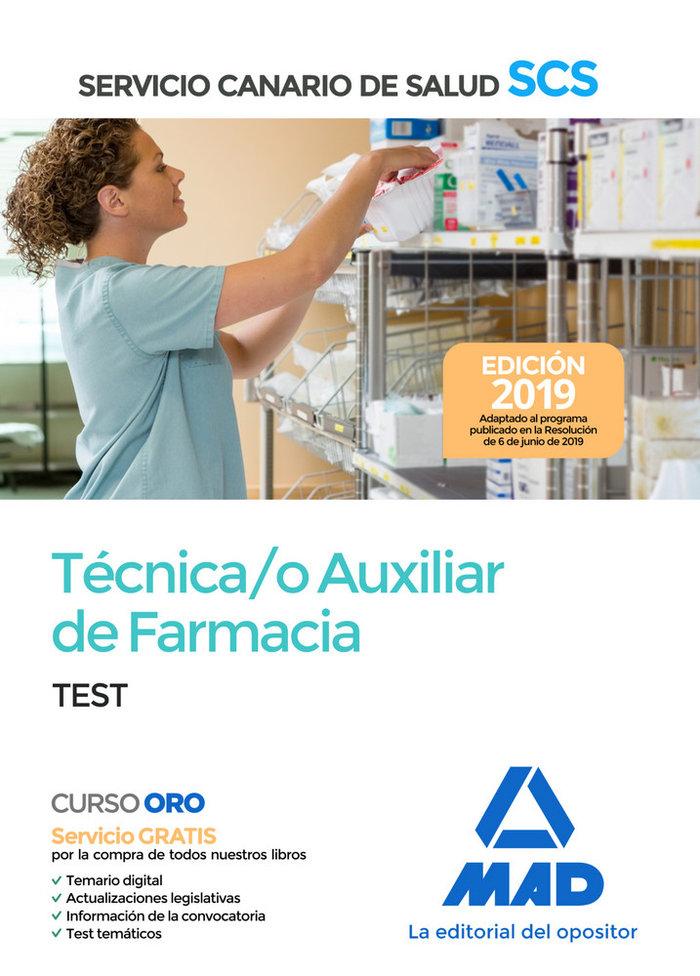 Tecnico auxiliar farmacia test servicio canario salud