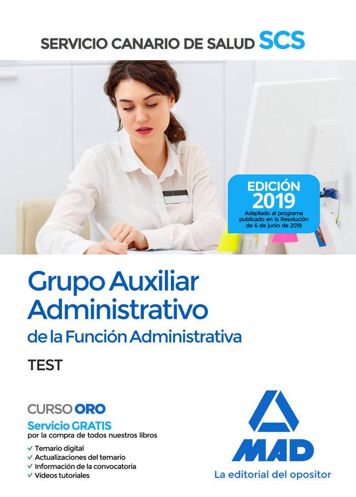 Auxiliar administrativo servicio canario salud test 2019