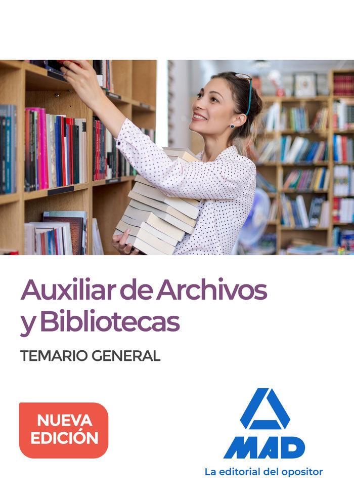 Auxiliar de archivos y bibliotecas temario general
