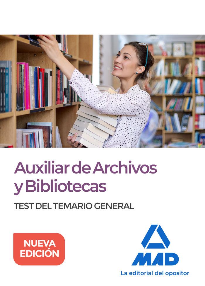 Auxiliar archivos y bibliotecas test del temario general