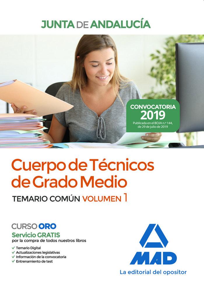 Cuerpo tecnico grado medio junta andalucia vol 1 comun 2019