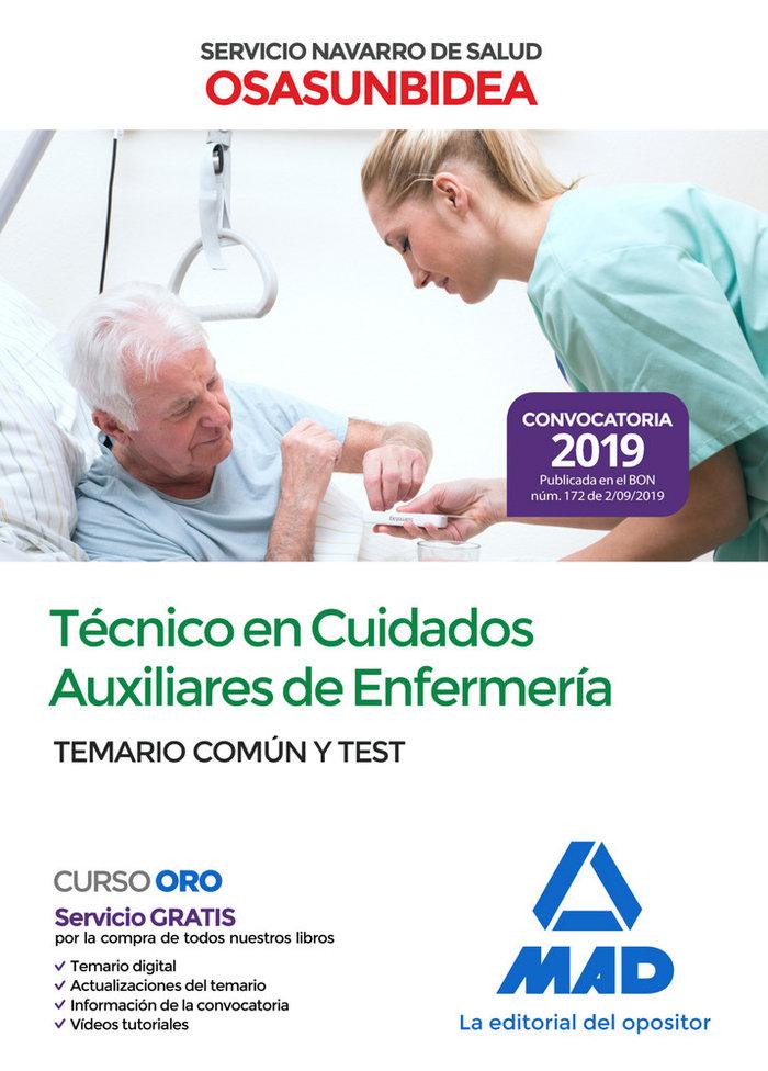 Tecnico cuidado auxiliar enfermeria servicio navarro test