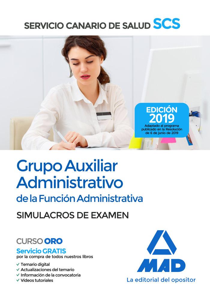 Auxiliar administrativo canario simulacros examen 2019