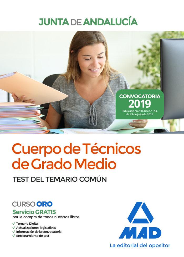 Cuerpo tecnico grado medio junta andalucia test 2019