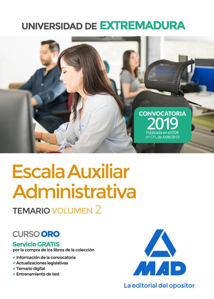 Escala auxiliar aadministrati universidad extremadura vol 2