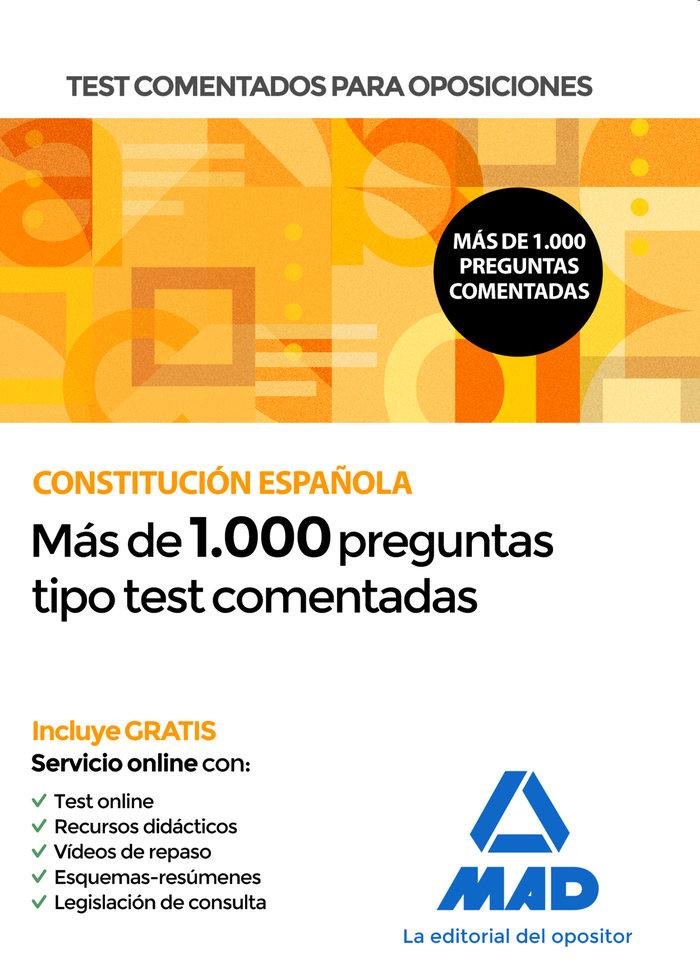 Test comentados oposiciones constitucion española