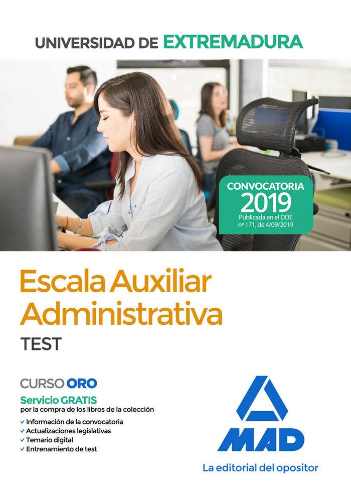 Escala auxiliar administrativa universidad extremadura test