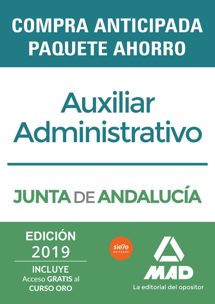 Paquete ahorro auxiliar administrativo junta andalucia 2019