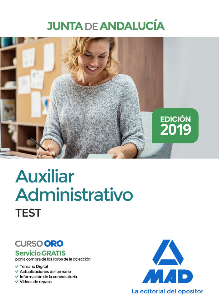 Auxiliar administrativo test junta andalucia