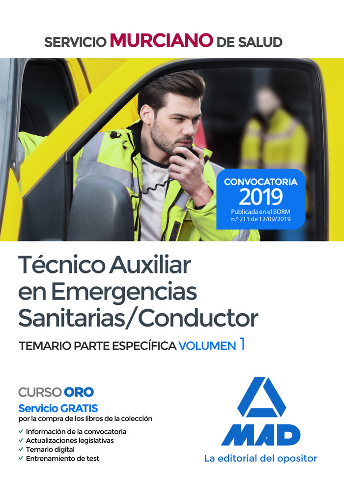 Tecnico auxiliar emergencia sanitaria conductor murciano