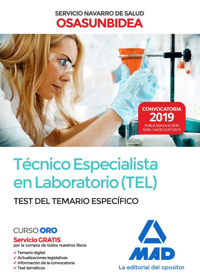 Tecnico especialista laboratorio tel servicio navarro test