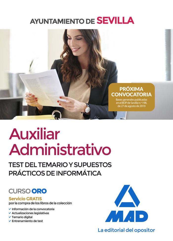 Auxiliar administrativo ayuntamiento sevilla test