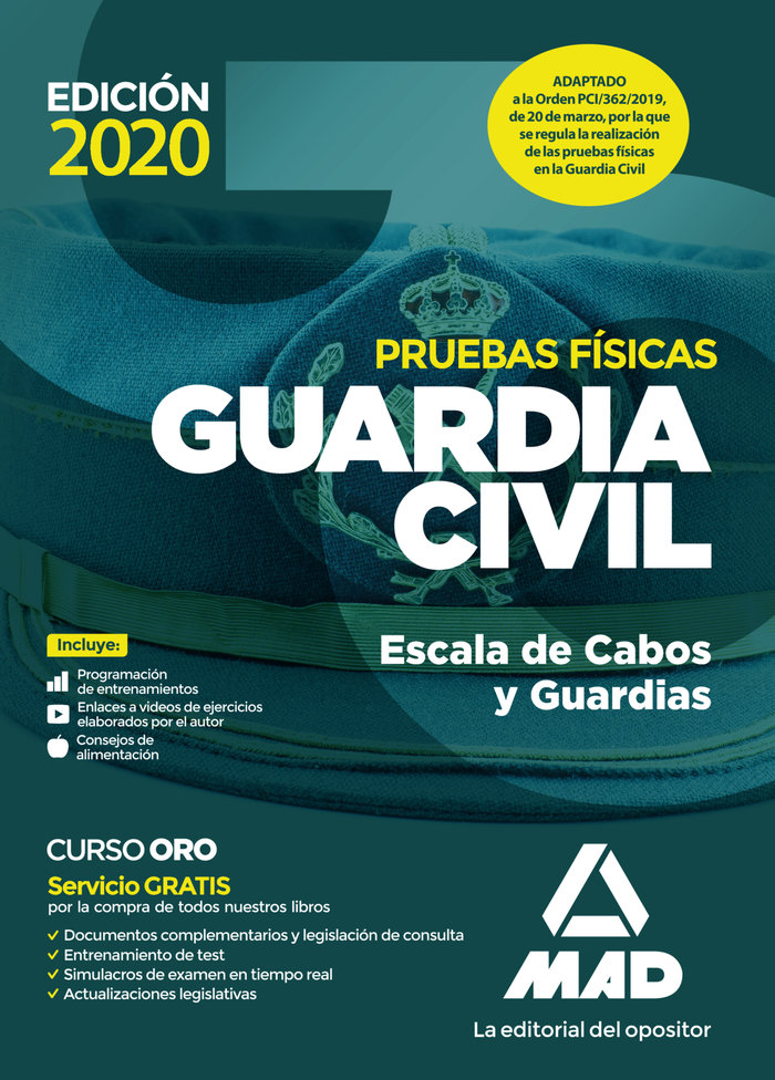 Pruebas fisicas guardia civil escala de cabos y guardias