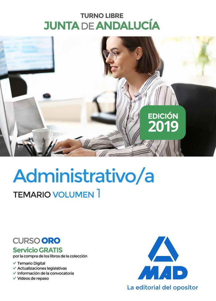 Administrativo junta andalucia vol 1 2019 acceso libre