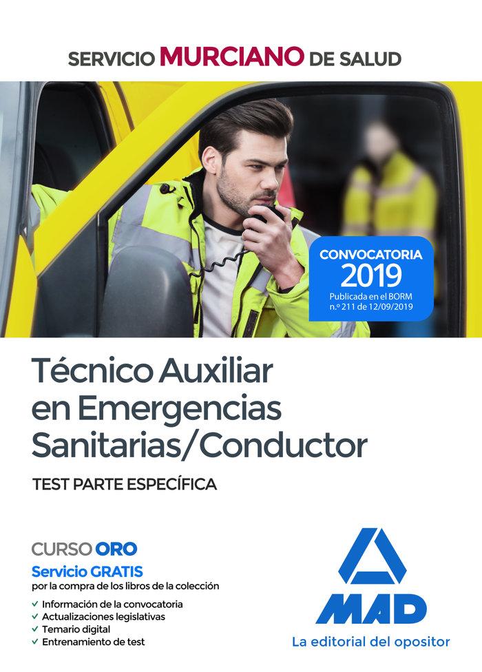 Tecnico auxiliar emergencias sanitarias conductor test