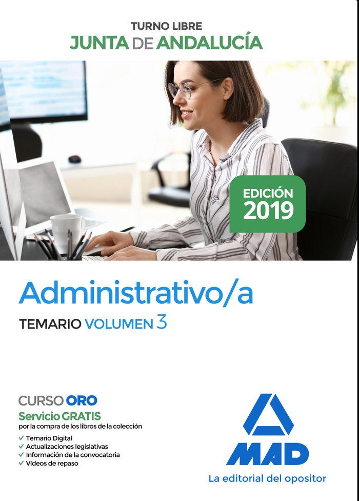 Administrativo junta andalucia turno libre temario vol 3