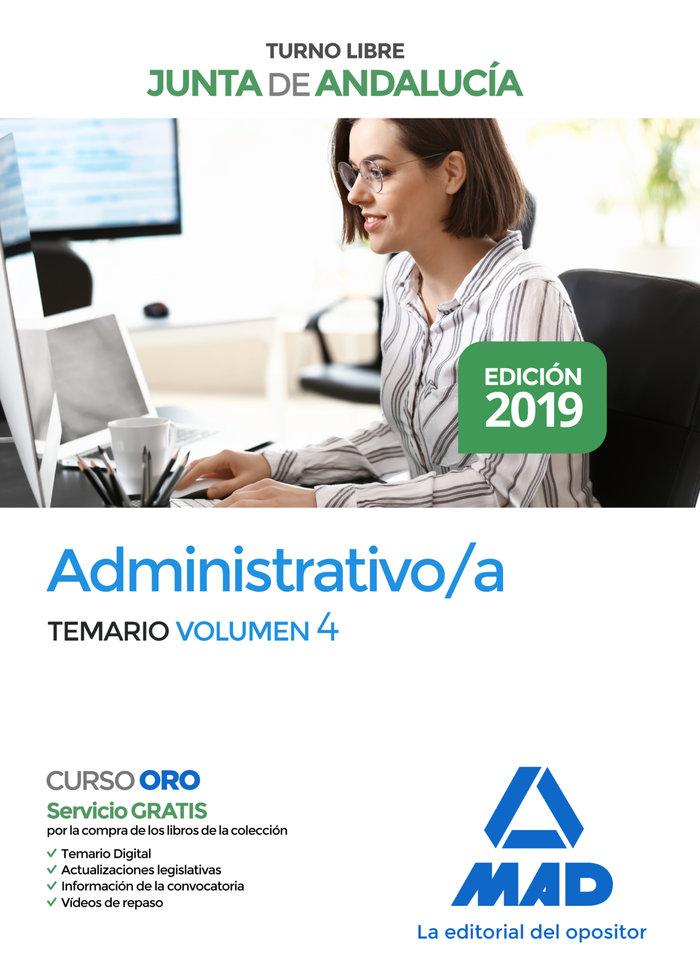 Administrativo junta andalucia turno libre temario vol 4