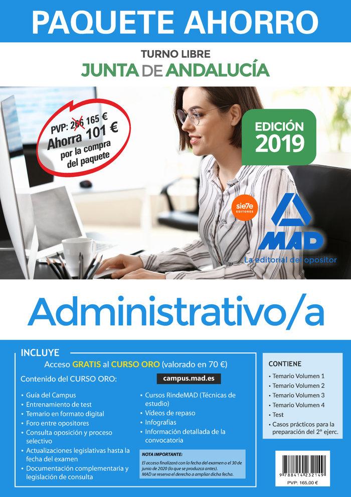 Paquete ahorro administrativo junta andalucia 2019