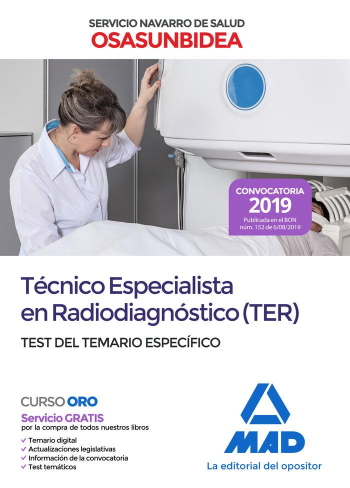 Tecnico especialista radiodiagnostico ter test osasunbidea