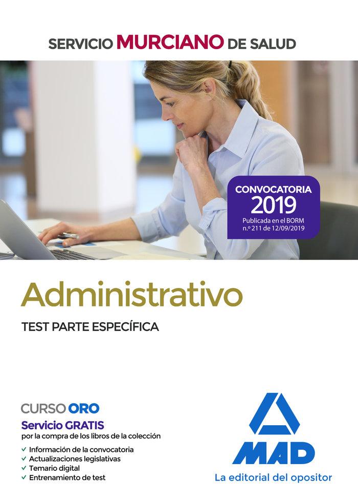 Administrativo servicio murciano salud test parte especific