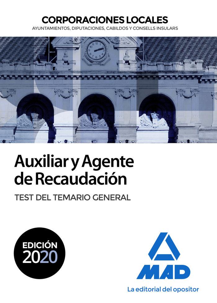 Auxiliar y agente recaudacion corporacion local test