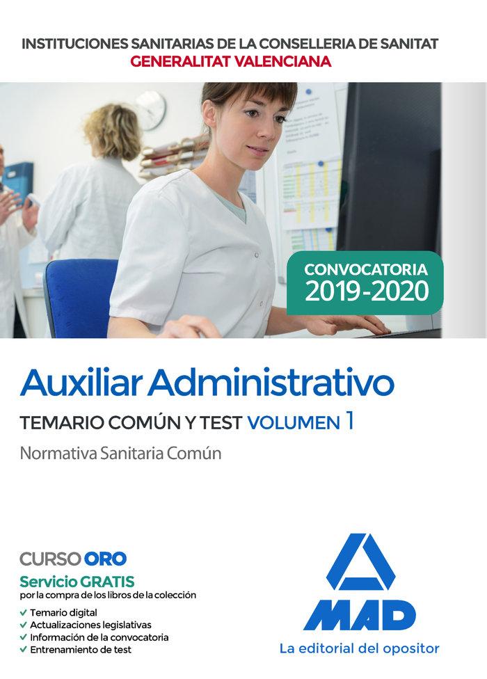 Auxiliar administrativo institucion sanitaria valencia 1