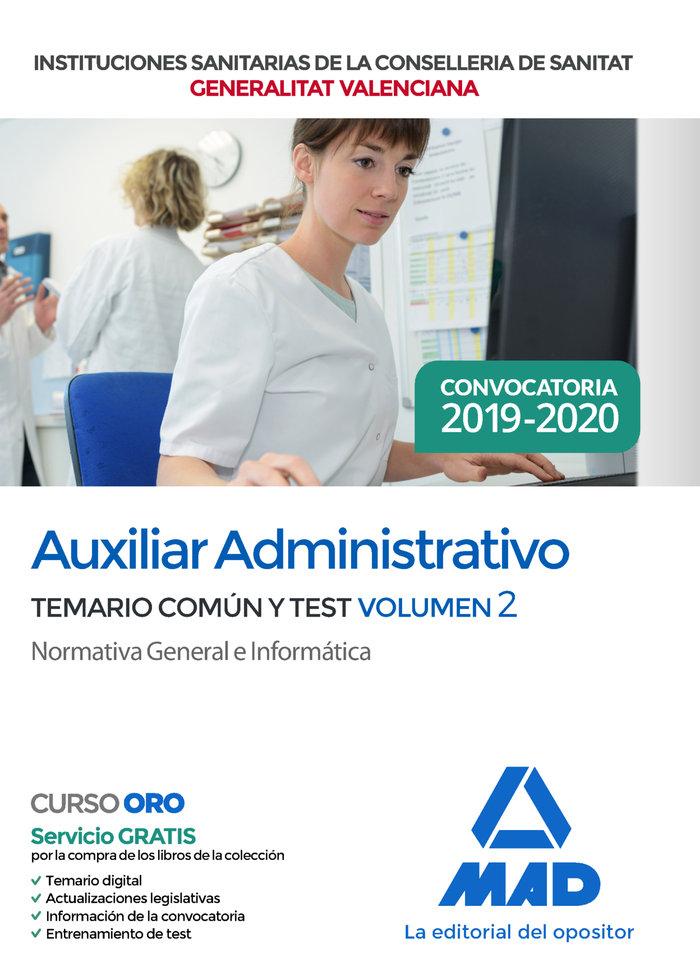 Auxiliar administrativo institucion sanitaria valencia 2