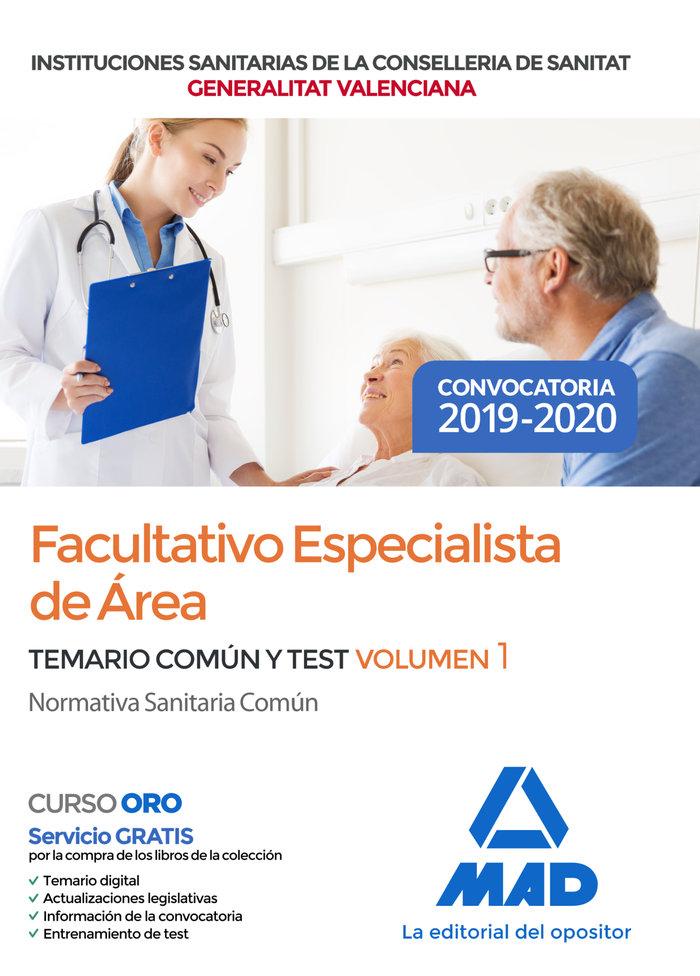 Facultativo especialista area instituciones sanitaria vol 1