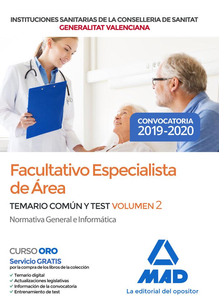 Facultativo especialista area instituciones sanitaria vol 2