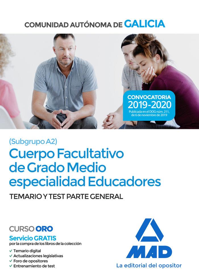 Cuerpo edudadores grado medio xunta galicia temario test