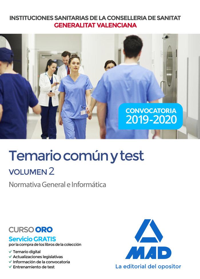 Institucion sanitaria conselleria valencia temario test 2
