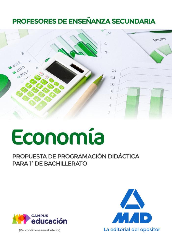 Profesores de enseñanza secundaria economia. propuesta de pr