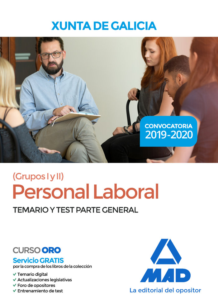 Personal laboral xunta galicia grupos i y ii temario test