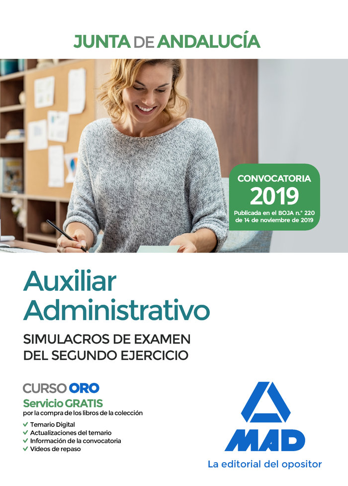 Auxiliar administrativo junta andalucia simulacro examen