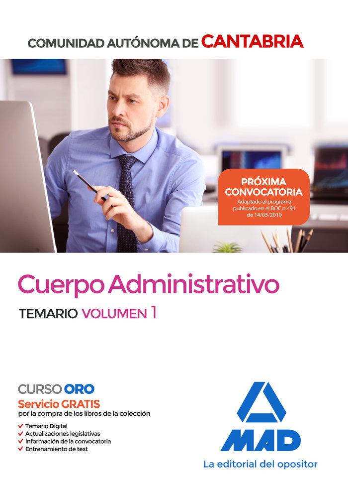 Cuerpo administrativo comunidad autonoma cantabria vol 1