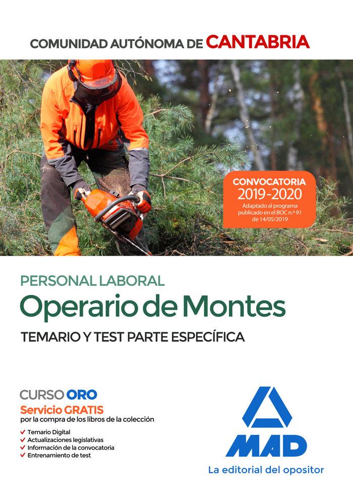 Operario de montes temario test especifico cantabria