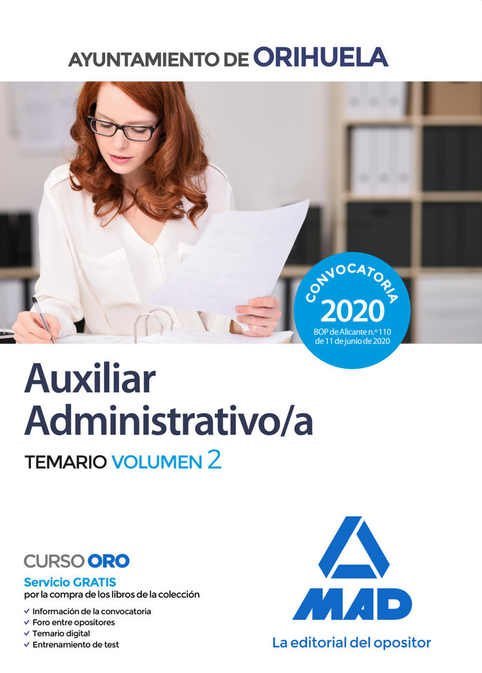 Auxiliar administrativo ayuntamiento orihuela temario 2