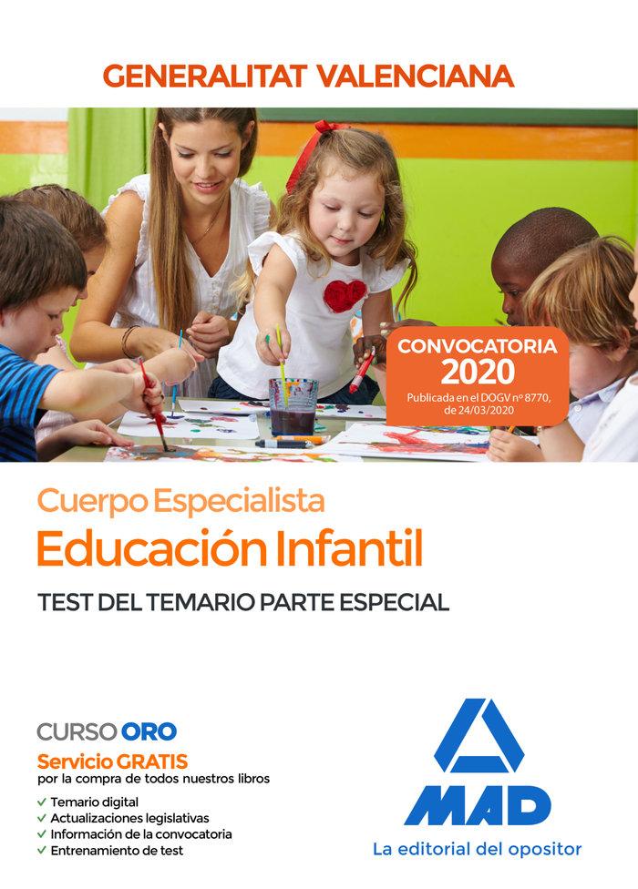 Cuerpo especialista educacion infantil valencia test